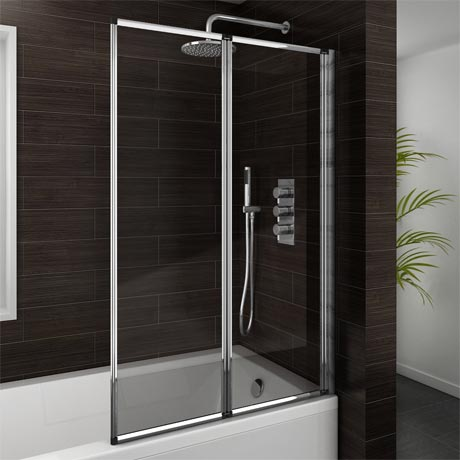 Haro Folding Bath Screen (900mm Wide - 2 Fold Concertina)