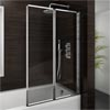 Haro Folding Bath Screen (900mm Wide - 2 Fold Concertina) profile small image view 1