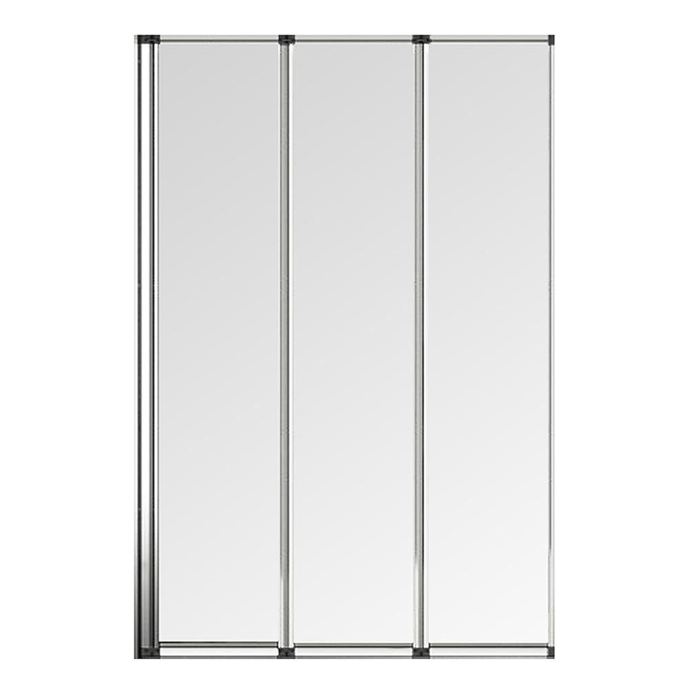 Haro Folding Bath Screen (900mm Wide - 3 Fold Concertina) profile large image view 2