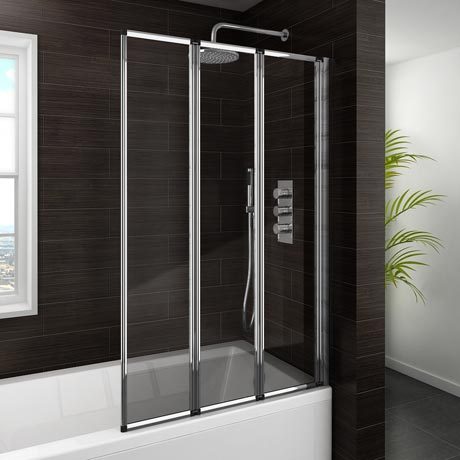 Haro Folding Bath Screen (900mm Wide - 3 Fold Concertina)
