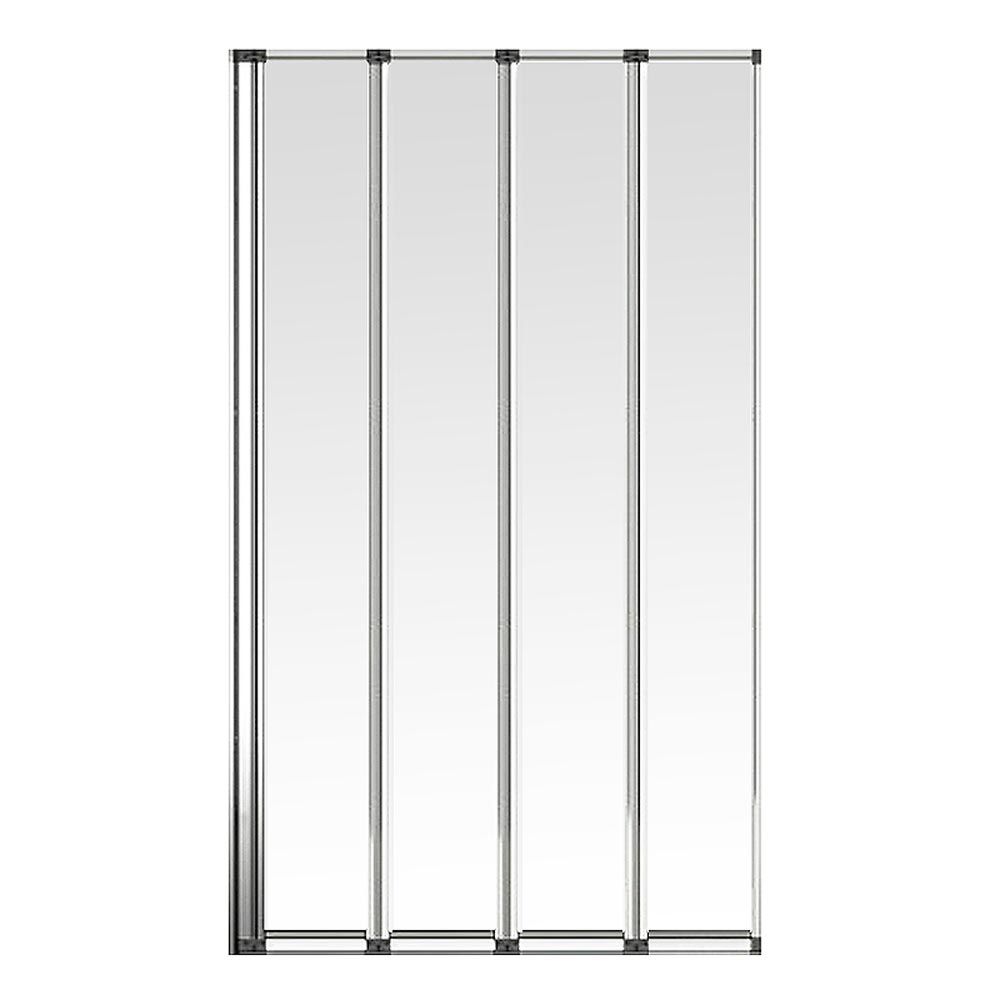 Haro Folding Bath Screen (900mm Wide - 4 Fold Concertina) profile large image view 2
