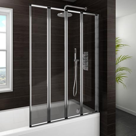 Haro Folding Bath Screen (900mm Wide - 4 Fold Concertina)