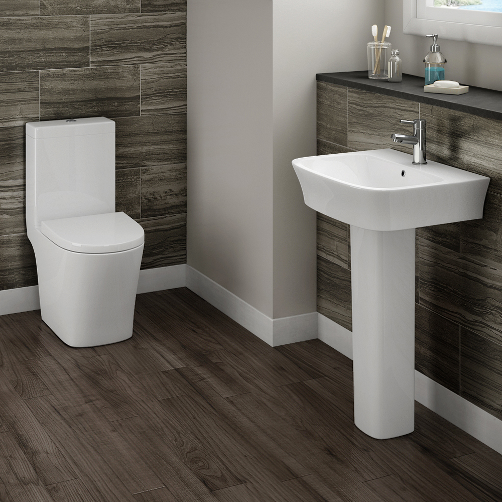 Havana 4 piece modern bathroom suite from victorian for Contemporary washroom