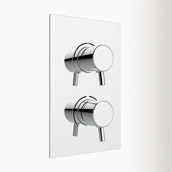 Heritage - Orbit Recessed Thermostatic Dual Control Shower Valve - Chrome Large Image