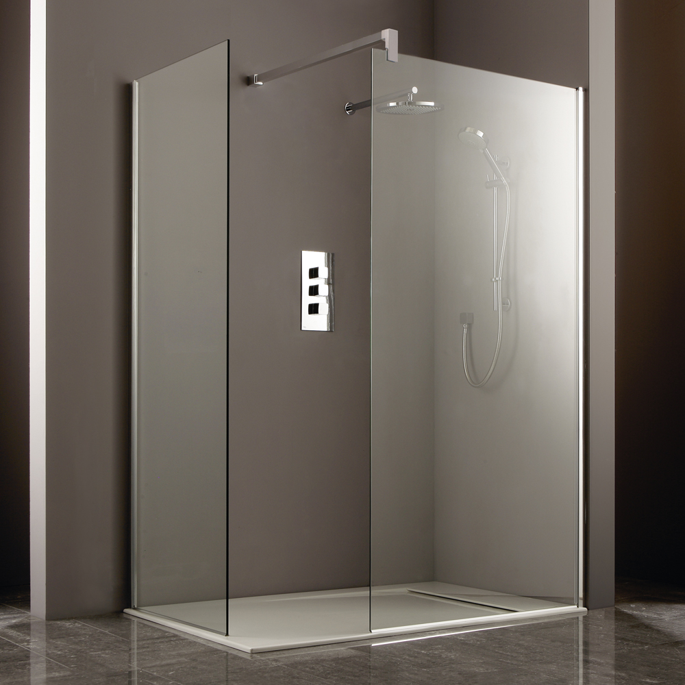 Heritage 8mm Linear Wet Room Screen - Various Sizes profile large image view 2