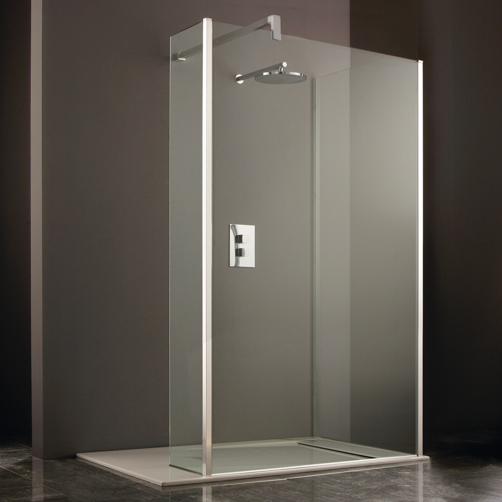 Heritage 8mm Linear Wet Room Screen - Various Sizes profile large image view 3