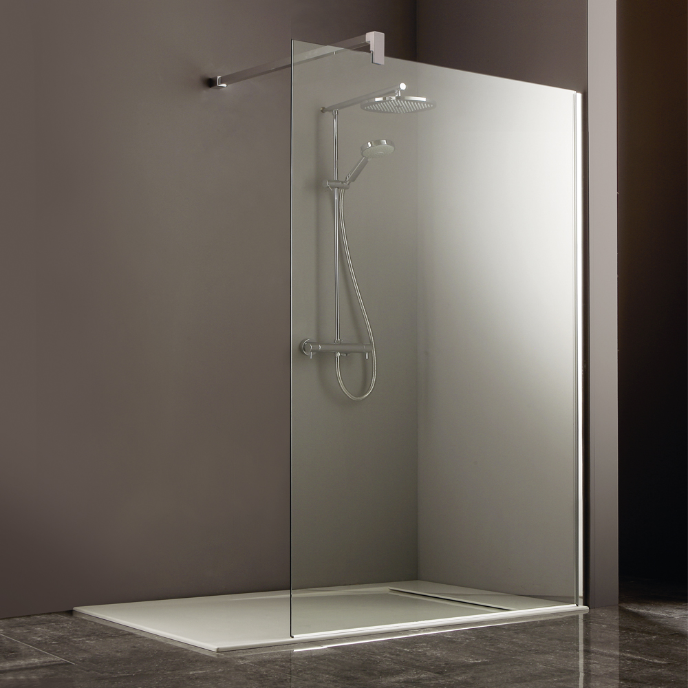 Heritage 8mm linear wet room screen now at victorian for Wet room shower screen 400mm