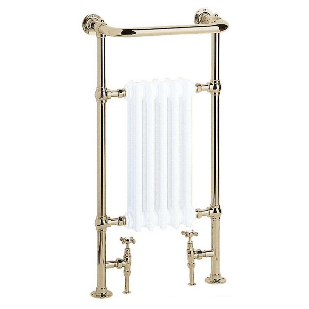 Heritage - Baby Clifton Heated Towel Rail - Vintage Gold - AHA80 profile large image view 1