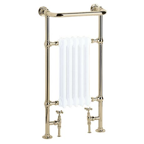 Heritage - Baby Clifton Heated Towel Rail - Vintage Gold - AHA80