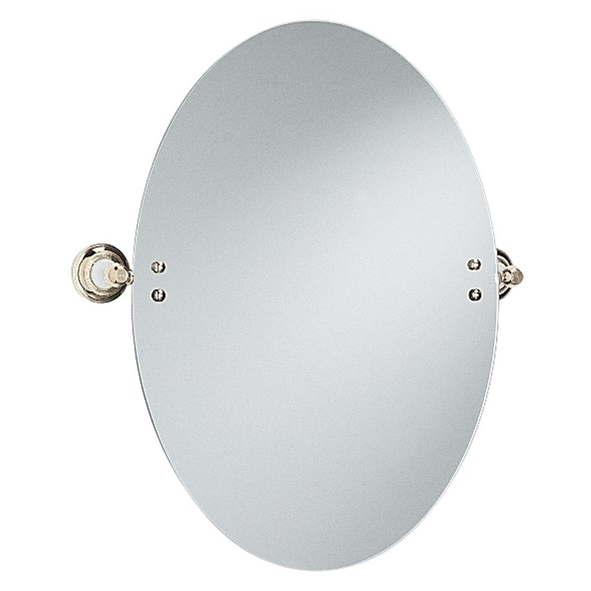 Heritage - Clifton Oval Swivel Mirror - Vintage Gold - ACA17 Large Image