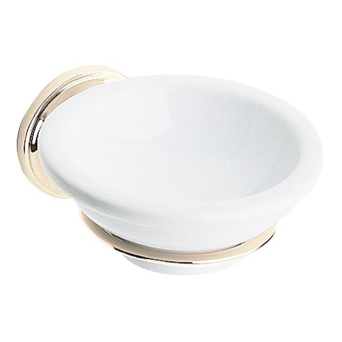 Heritage - Clifton Soap Dish & Holder - Vintage Gold - ACA04 Large Image