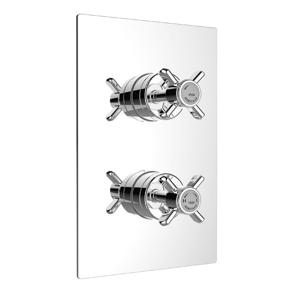 Heritage - Dawlish Dual Control Recessed Valve - Chrome - SDC04 profile large image view 1