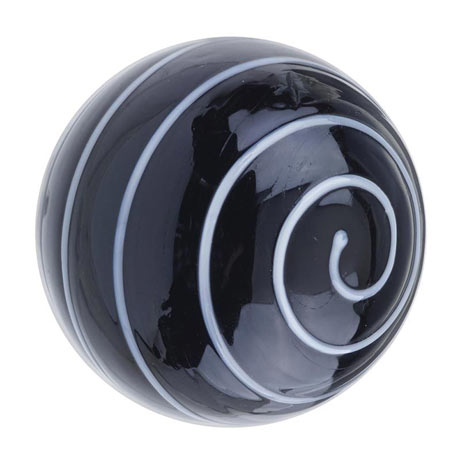 Heritage Glass Spiral Door Knob Black & White - FKNGL03