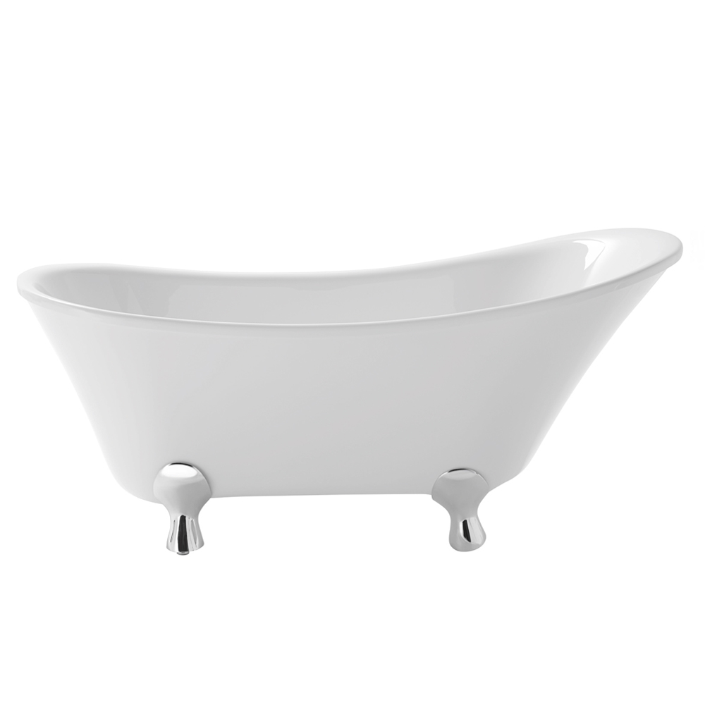 Heritage Grantham Freestanding Slipper Bath with Feet (1550x670mm) profile large image view 1