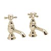 Heritage - Hartlebury Basin Pillar Taps - Vintage Gold - THRG00 profile small image view 1