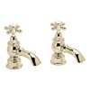 Heritage - Hartlebury Bath Pillar Taps - Vintage Gold - THRG01 Medium Image