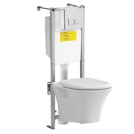 Heritage Kharine Wall Hung Toilet with Concealed WC Cistern & Wall Hung Frame