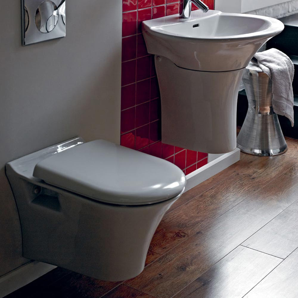 Heritage Kharine Wall Hung Toilet with Concealed WC Cistern & Wall Hung Frame profile large image view 3