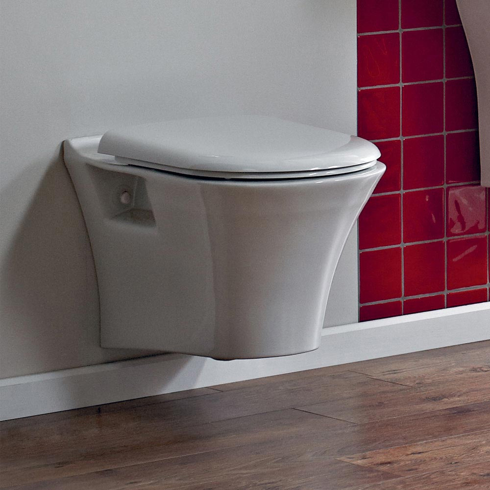 Heritage Kharine Wall Hung Toilet with Concealed WC Cistern & Wall Hung Frame profile large image view 4