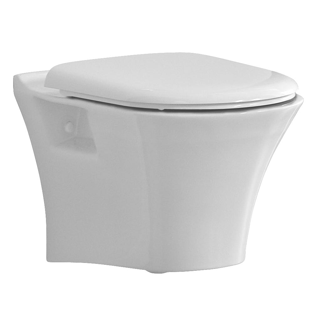 Heritage Kharine Wall Hung WC Pan + Soft Close Seat Large Image