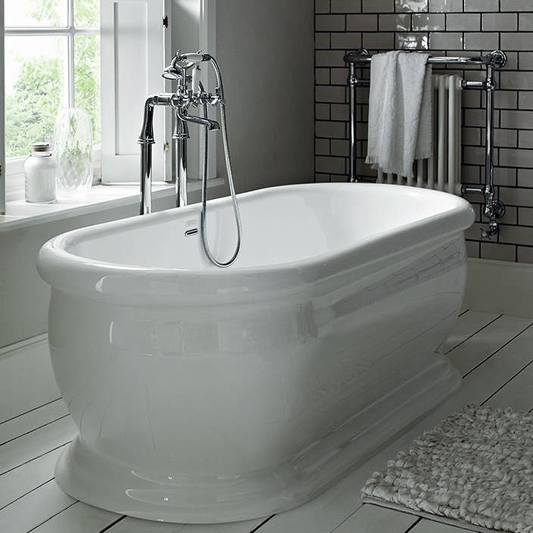 Heritage New Victoria Double Ended Roll Top Bath (1745x790mm) Profile Large Image