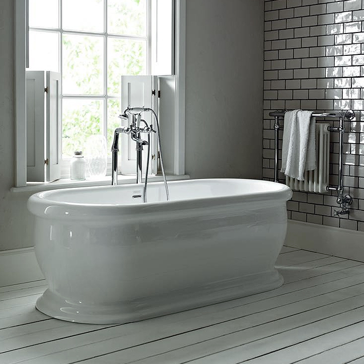 Heritage New Victoria Double Ended Roll Top Bath (1745x790mm) Feature Large Image