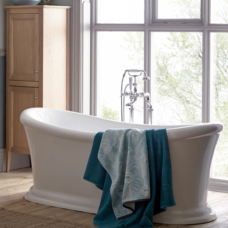 Heritage Orford Double Ended Slipper Roll Top Bath (1700x740mm) Profile Large Image