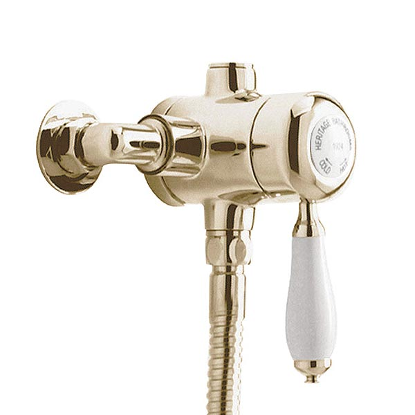 Heritage - Ryde Single Control Exposed Mini Valve With Bottom Outlet - Vintage Gold