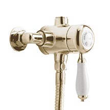 Heritage - Ryde Single Control Exposed Mini Valve With Bottom Outlet - Vintage Gold Medium Image