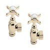 Heritage - Traditional Heated Towel Rail Valves - Vintage Gold - AHA75 profile small image view 1