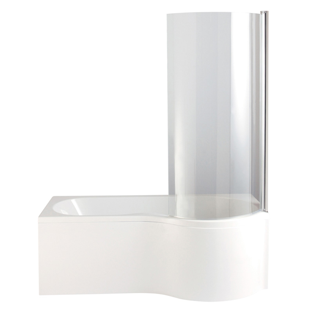 heritage unity curved shower bath with screen panel online now