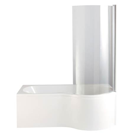 Heritage Unity Curved Shower Bath With Screen Amp White