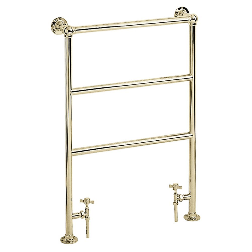 Heritage - Victorian Heated Towel Rail - Antique Gold - AHA70