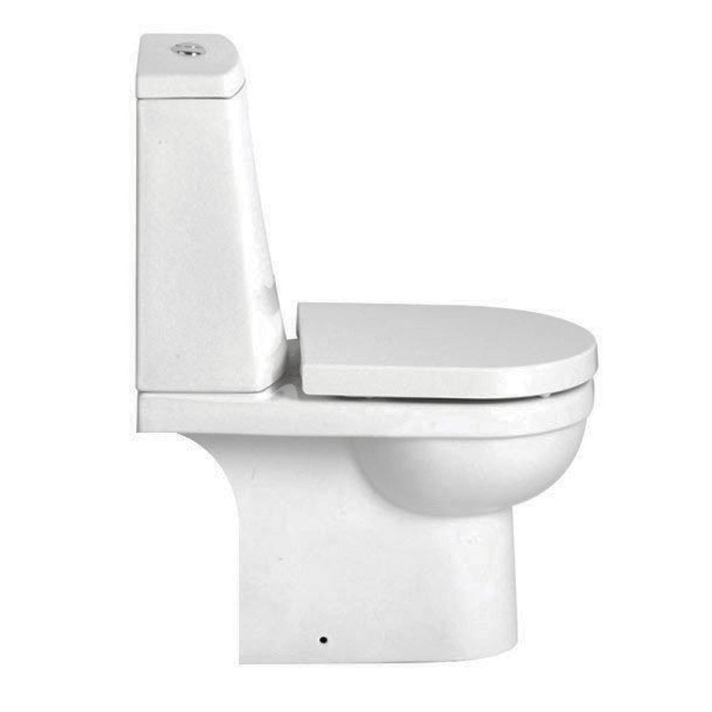 Heritage Zaar Open Back Toilet with Soft Close Seat profile large image view 4