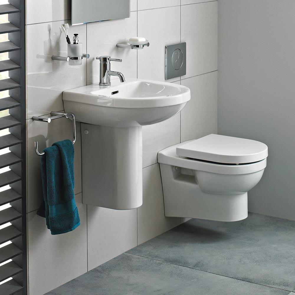 Heritage Zaar Wall Hung Cloakroom Suite profile large image view 1