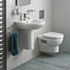 Heritage Zaar Wall Hung Cloakroom Suite profile small image view 1