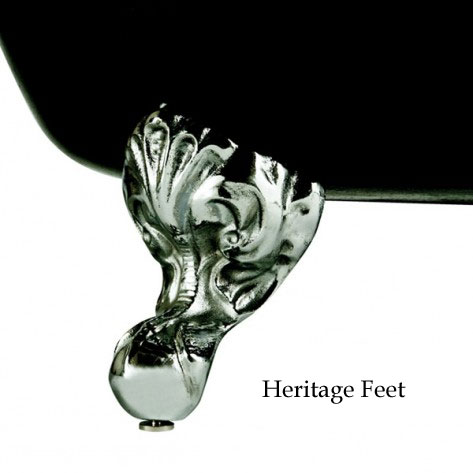 Heritage Wessex 0TH Slipper Cast Iron Bath (1540x770mm) with Feet profile large image view 2