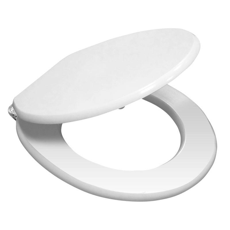High Gloss White MDF Soft Close Bottom Fixing Toilet Seat profile large image view 2
