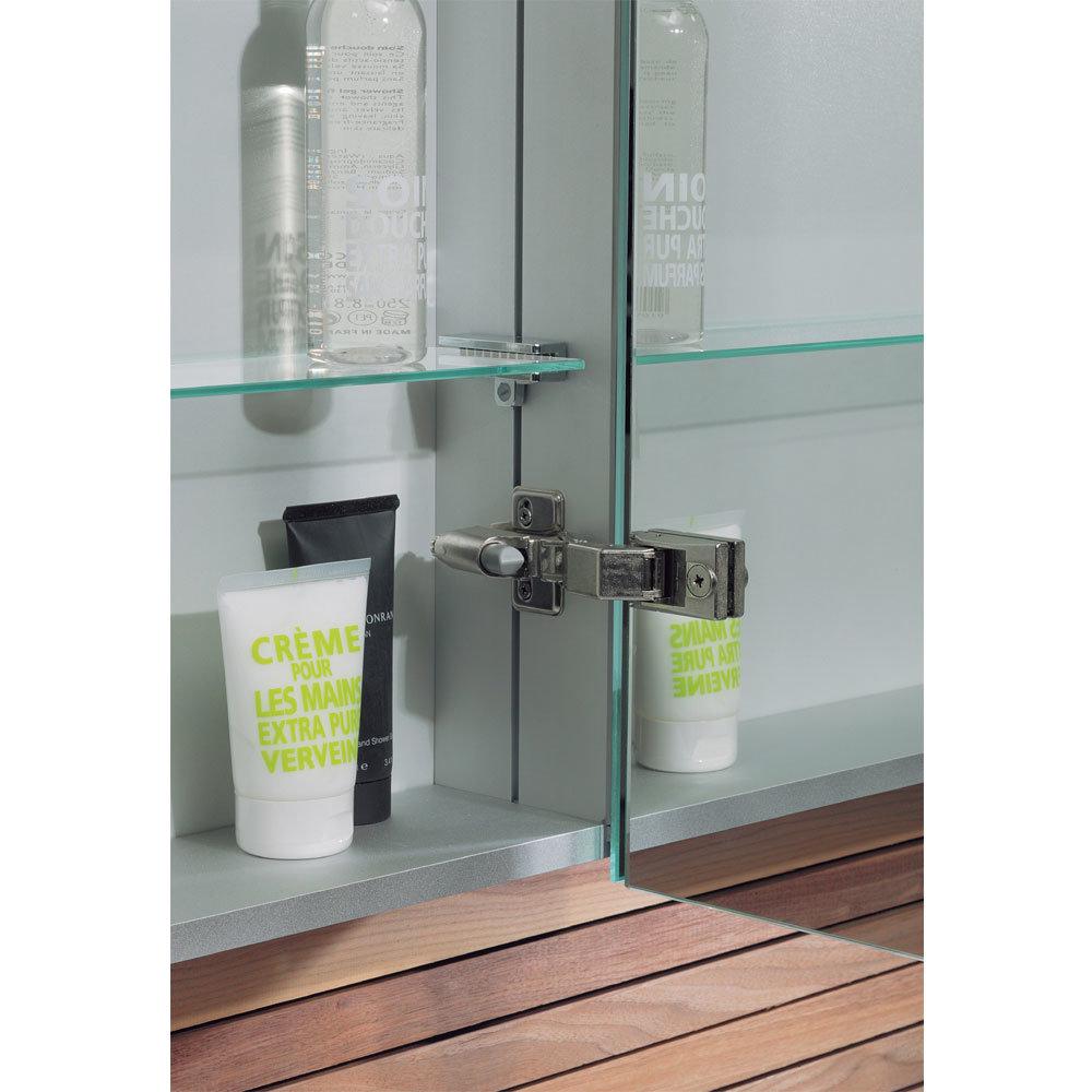 Bauhaus - 600mm Aluminium Mirrored Cabinet - CB6070AL Profile Large Image