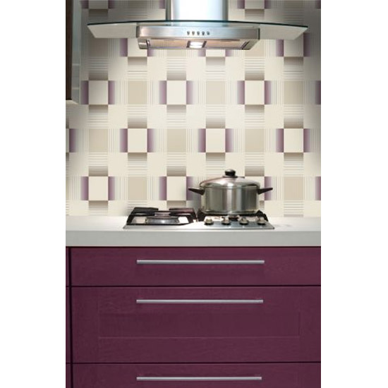 Holden Decor - Hikari Plum/Cream Bathroom Wallpaper - 89140 profile large image view 2