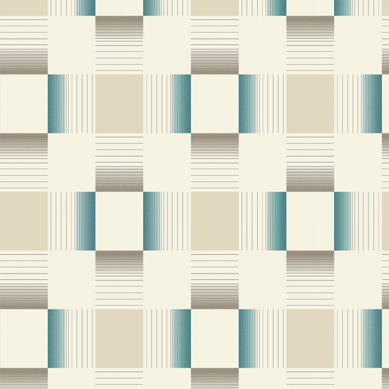 Holden Decor - Hikari Teal/Cream Bathroom Wallpaper - 89142 Large Image