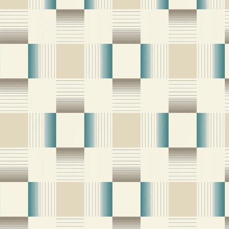 Holden Decor - Hikari Teal/Cream Bathroom Wallpaper - 89142