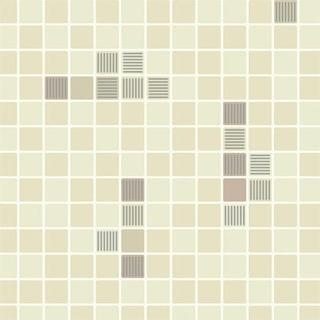 Holden Decor - Matrix Beige Bathroom Wallpaper - 89070
