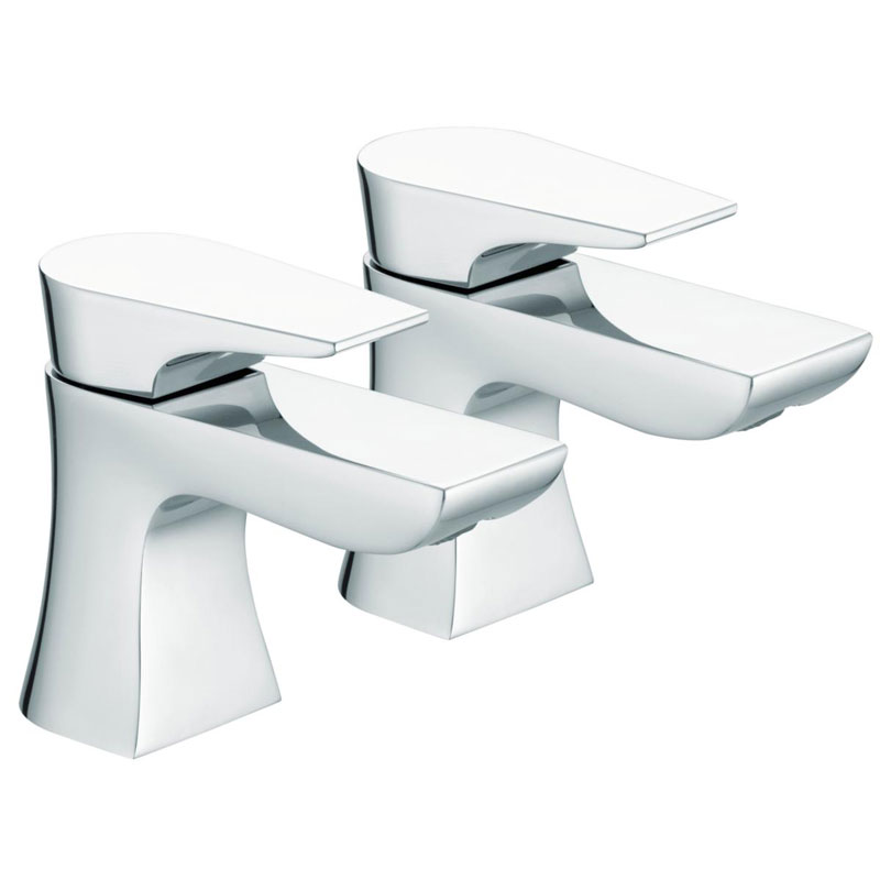 Bristan - Hourglass Contemporary Basin Taps - Chrome - HOU-1/2-C profile large image view 1