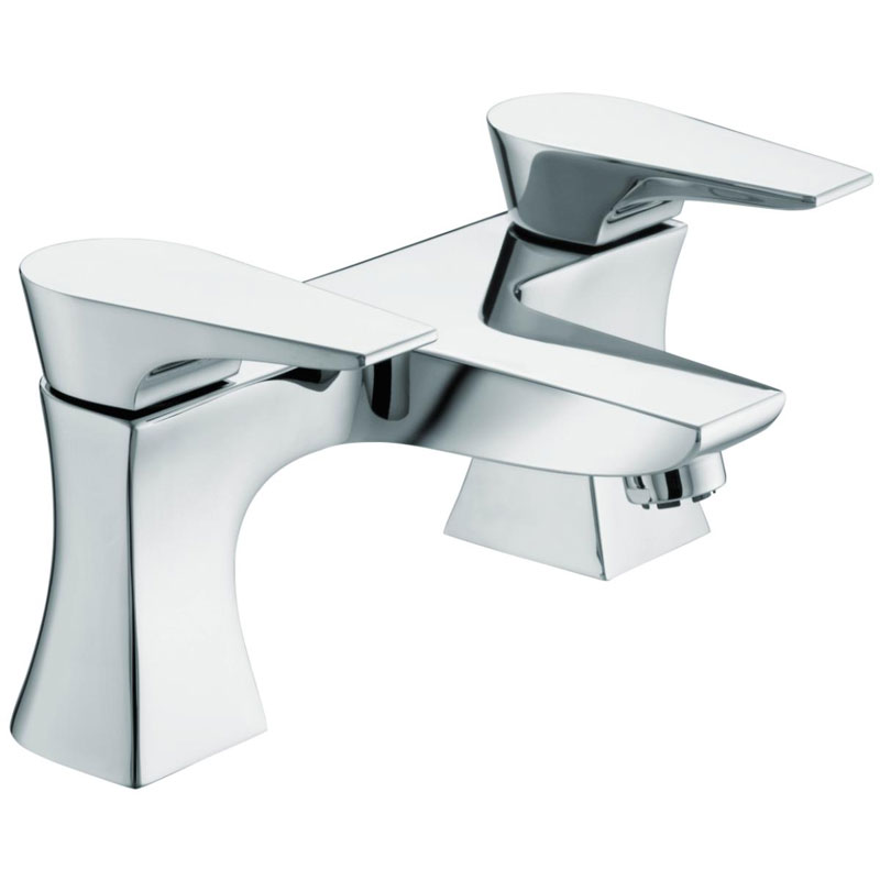 Bristan - Hourglass Contemporary Bath Filler - Chrome - HOU-BF-C Large Image