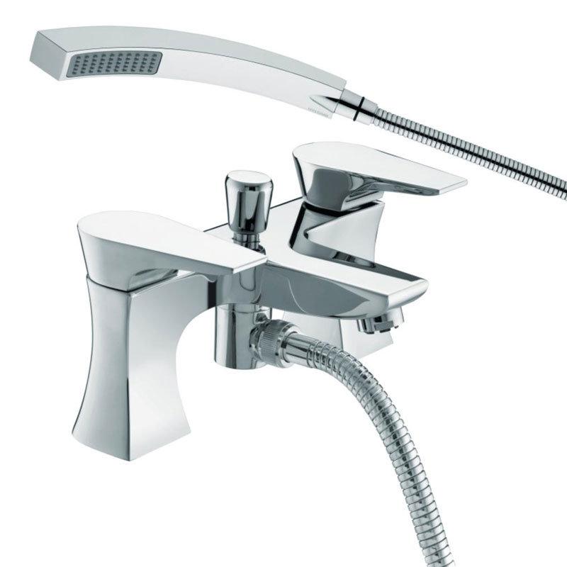 Bristan - Hourglass Contemporary Bath Shower Mixer - Chrome - HOU-BSM-C Large Image