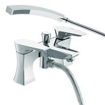 Bristan - Hourglass Contemporary Bath Shower Mixer - Chrome - HOU-BSM-C Medium Image