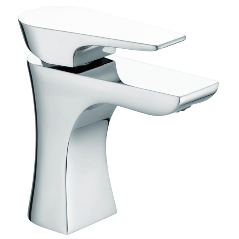 Bristan - Hourglass Contemporary Basin Mixer w/ Clicker Waste - Chrome - HOU-BAS-C Large Image