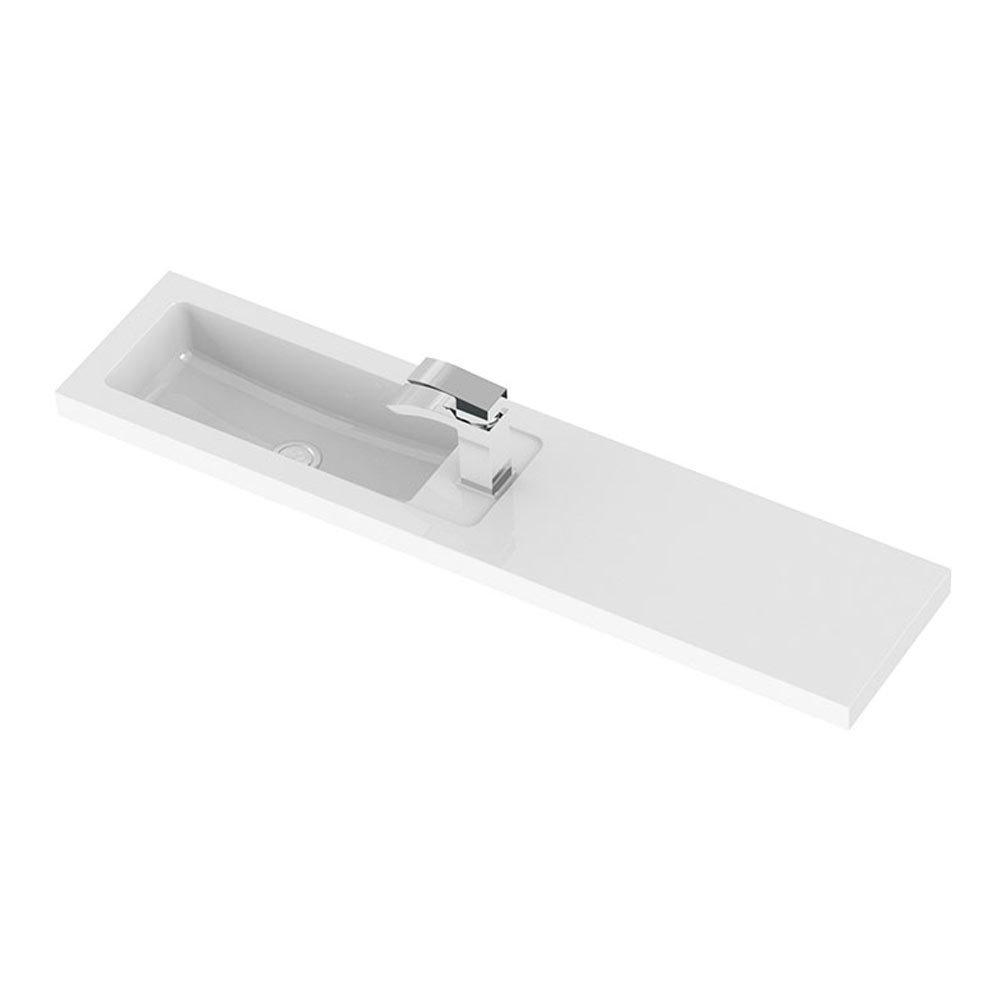 Hudson Reed 1100 x 255mm Slimline Polymarble Basin 1TH