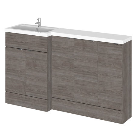 Hudson Reed 1500mm Grey Avola Combination Unit (600 Vanity + 300 Base Unit x 3)